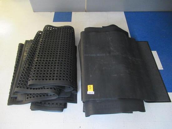 ASSORTED RUBBER & CARPETED FLOOR MATS