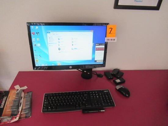 ASUS COMPUTER W/HP MONITOR