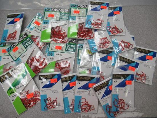 Hooks assorted - Owner Cutting Point 5311-113 size 1/0 5315-113 5114-103 size 1