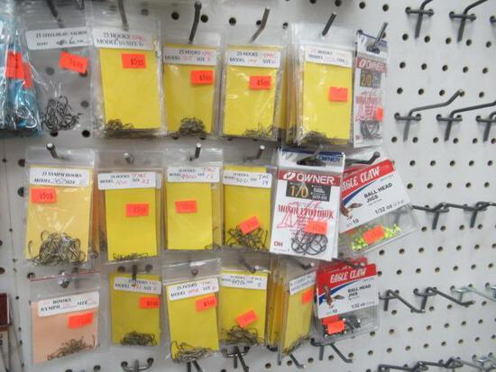 Hooks assorted - Owner 5177-121 size 2/0 Eagle Claw ball head jigs Nymph hooks