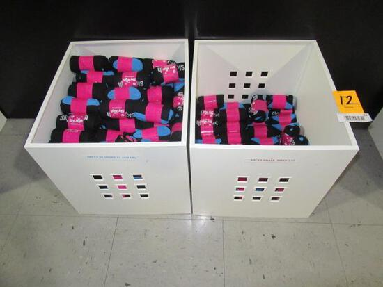 (2) BOXES ASSORTED SIZE SKY HIGH TRAMPOLINE SOCKS