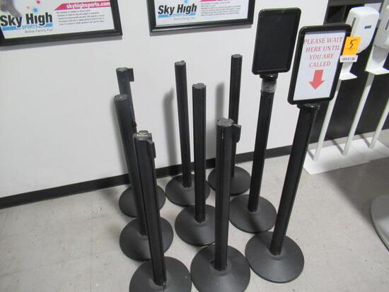 (9) RETRACTABLE BELT STANCHIONS
