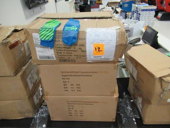 (3) BOXES OF ASSORTED SKY HIGH TRAMPOLINE SOCKS