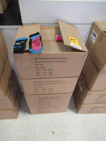 (4) BOXES OF SKY HIGH TRAMPOLINE SOCKS (SIZE XXS)