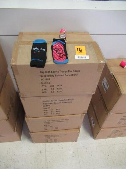 (4) BOXES OF SKY HIGH TRAMPOLINE SOCKS (SIZE XS)