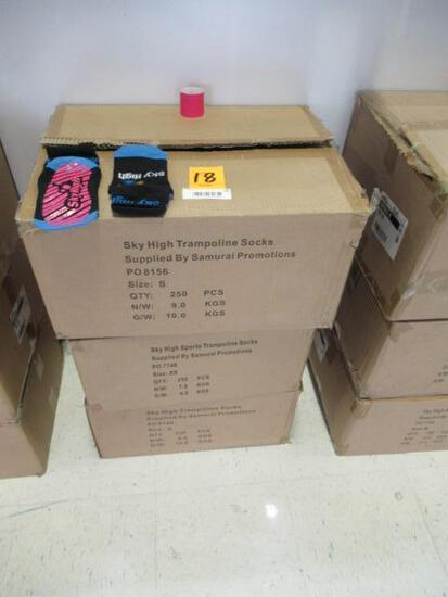 (3) BOXES OF SKY HIGH TRAMPOLINE SOCKS (SIZE S)