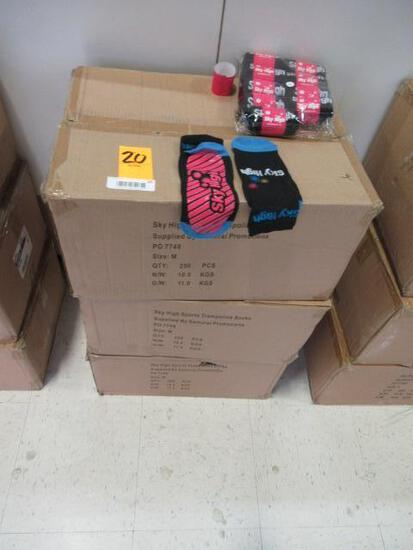 (3) BOXES OF SKY HIGH TRAMPOLINE SOCKS (SIZE M)