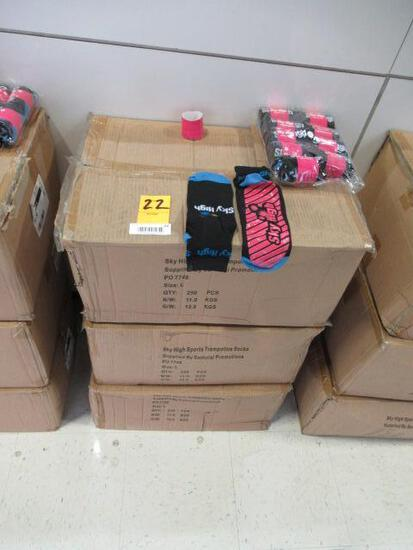 (3) BOXES OF SKY HIGH TRAMPOLINE SOCKS (SIZE L)