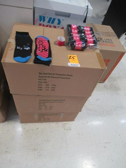 (3) BOXES OF SKY HIGH TRAMPOLINE SOCKS (SIZE XXL)