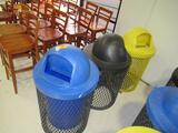 (3) METAL TRASH CAN CAGES