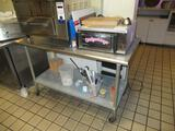 STAINLESS STEEL 30'' X 60'' ROLLING PREP TABLE