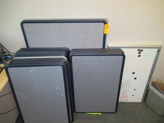 ASSORTED PIN BOARDS & DRY ERASE BOARDS