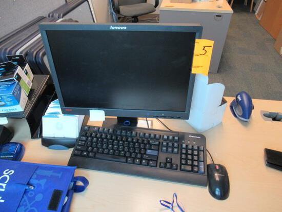 LENOVO COMPUTER W/LENOVO MONITOR (UNKNOWN PASSWORD)