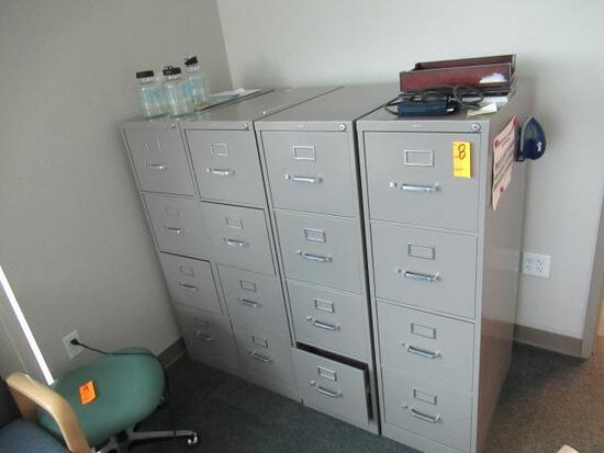 (4) 4 DRAWER FILE CABINETS W/CONTENTS