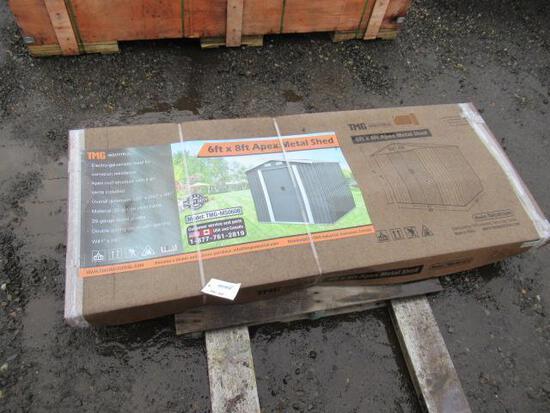 6' X 8' APEX METAL SHED (UNUSED - IN BOX)