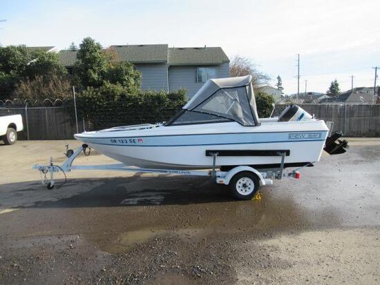 1989 NEW BAY 16' BOAT