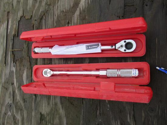 (2) 3/8'' DRIVE TORQUE WRENCHES