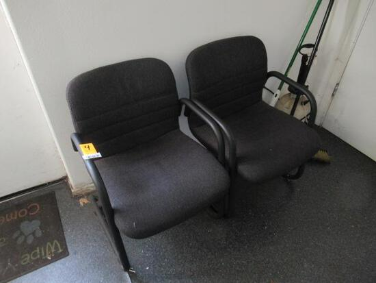 (2) UPHOLSTERED CHAIRS