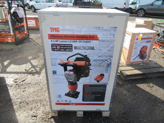 TMG-RM80 TAMPING RAMMER / JUMPING JACK COMPACTOR W/ LONCIN 6.5 HP GAS ENGINE (UNUSED IN CRATE)