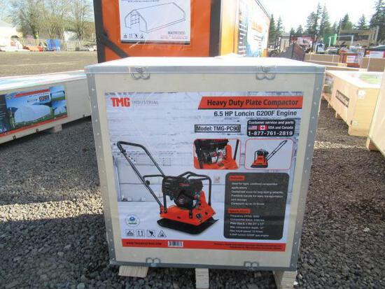 TMG-PC90 HEAVY DUTY PLATE COMPACTOR W/ LONCIN 6.5 HP GAS ENGINE (UNUSED IN CRATE)