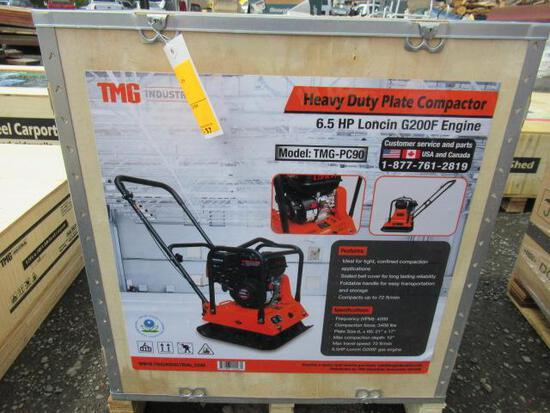 TMG-PC90 HEAVY DUTY PLATE COMPACTOR W/ LONCIN 6.5HP GAS ENGINE