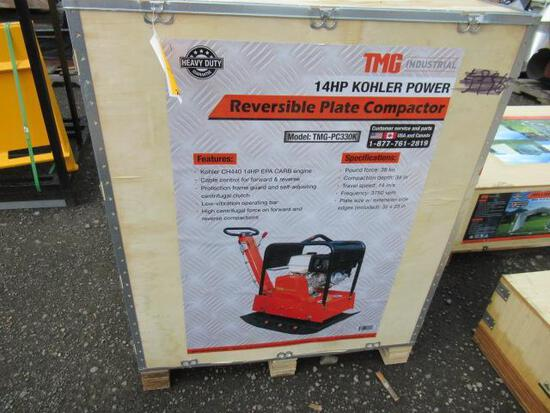 TMG-PC330K REVERSIBLE PLATE COMPACTOR W/ KOHLER 14HP GAS ENGINE