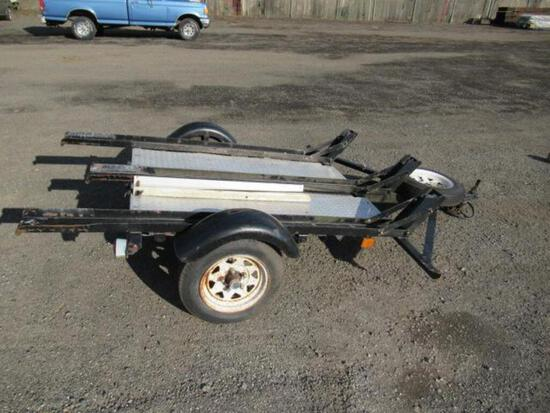 ASSEMBLED 3 MOTORCYCLE TRAILER