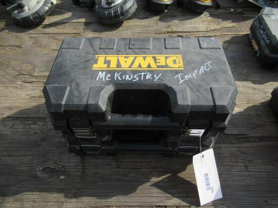 (2) DEWALT IMPACT DRILL W/ (2) BATTERIES, & CHARGER IN CASE