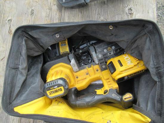 DEWALT CORDLESS BAND SAW W/ BATTERY CHARGER & CARRYING BAG