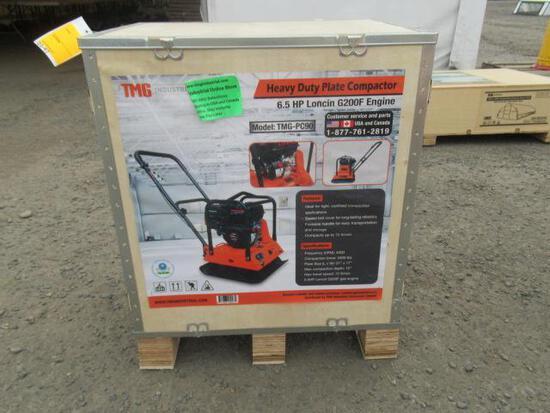 TMG INDUSTRIAL TMG-PC90 HEAVY DUTY PLATE COMPACTOR W/ LONCIN 6.5 HP GAS ENGINE (UNUSED)
