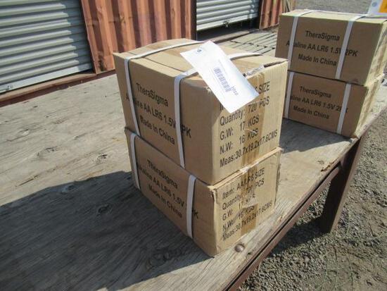 (2) CASES OF AA BATTERIES (720 BATTERIES PER CASE)
