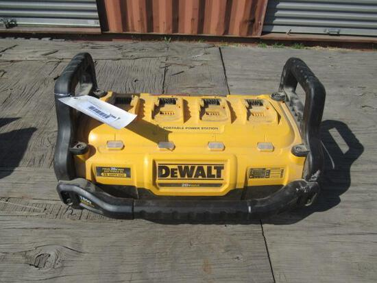 DEWALT PORTABLE POWER STATION W/ (4) BATTERY CHARGING STATIONS, 20 VOLT MAX, 3600 PACK WATTS & 1800