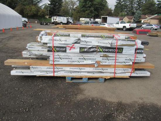 PALLET OF ASSORTED SIZE & LENGTH WOOD BEAMS