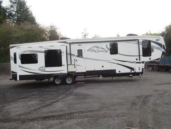 2016 HEARTLAND BIG COUNTRY 3850MB  5TH WHEEL TRAVEL TRAILER W/ 4 SLIDE OUTS