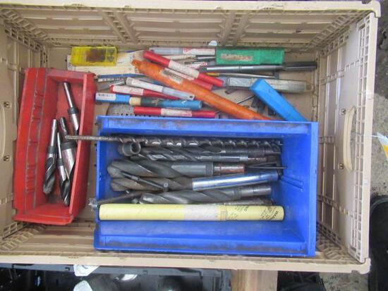 PLASTIC CRATE OF ASSORTED DRILL BITS
