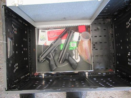 (2) AIR SOFT METAL BB GUNS, DAISY MODEL 188 & CROSSMAN MODEL 150