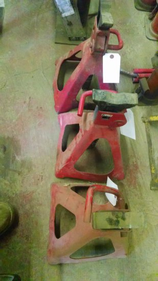 LOT OF 3 RED JACK STANDS