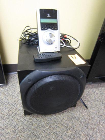 LOGITECH Z-5500 SOUND SYSTEM W/SUB WOOFER, (5) SPEAKERS, PCM 96/24 DECODER