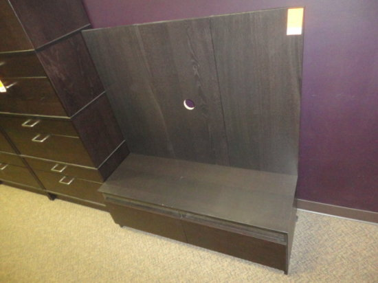 "TV STAND, WOOD, 47 1/2"" X 16 1/2"" X 17"""