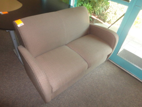 LOVE SEAT SOFA W/ 'INTERTWINDED OVALS 'DESIGN