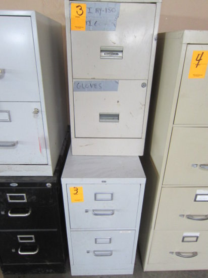 LOT OF (2) TWO DRAWER FILE CABINETS