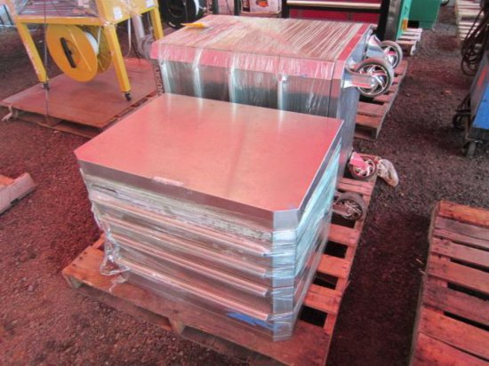 PALLET W/HUSKY DOUBLE STACK ROLLING TOOLBOX