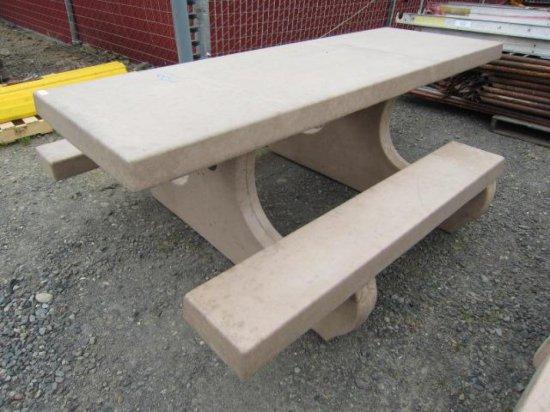 CEMENT ADA PICNIC TABLE (92''L X 64'' X 32''T)