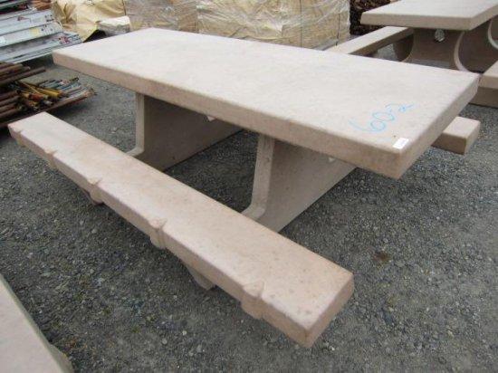 CEMENT PICNIC TABLE (92''L X 64'' X 32''T)