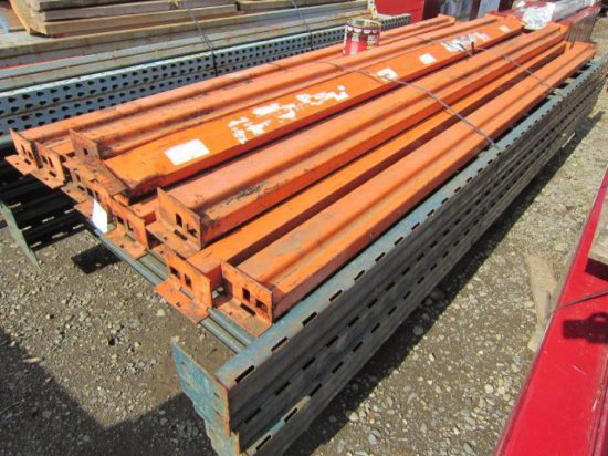 PALLET RACKING - (5) 44'' X 10' UPRIGHTS & (11) 9' CROSSARMS