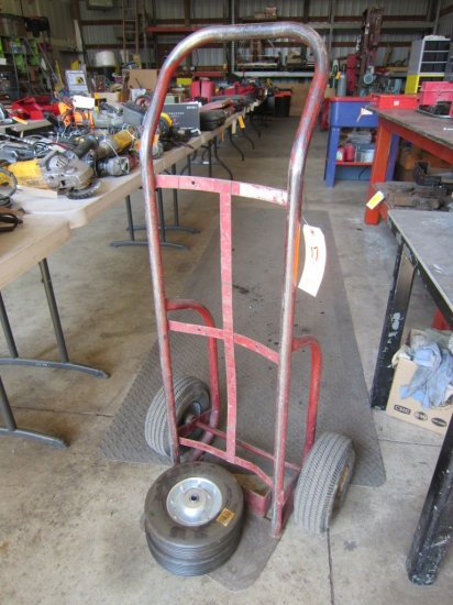 HAND TRUCK WITH EXTRA WHEELS (RED)
