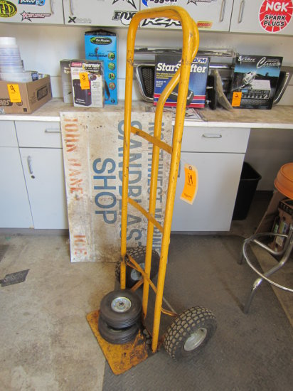 HAND TRUCK WITH XTRA WHEELS (YELLOW)