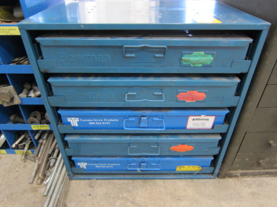 HARDWARE ORGANIZER 5 DRAWER WITH CONTENTS (BLUE)