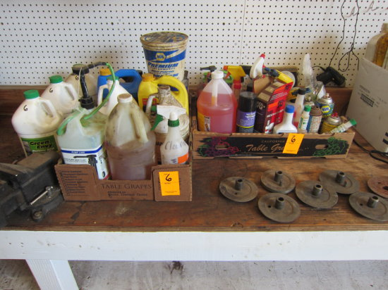 LOT OF CLEANERS AND OILS