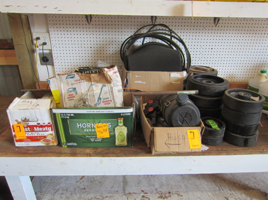 LOT OF HUSQVARNA SAW PARTS (MOST ARE NOS)